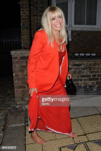 Jo Wood at the GQ awards afterparty in Primrose Hill on September 5 2017 in London England