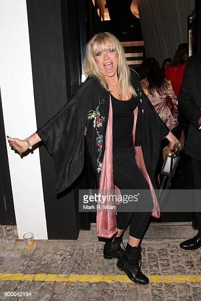 Jo Wood attending the Ara Vartanian store opening party on September 7 2016 in London England