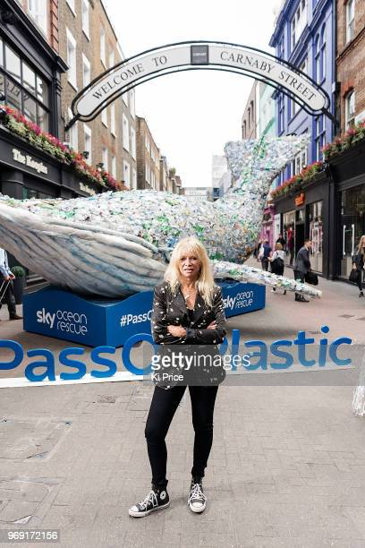 faf483c07 Jo Wood attends a photocall on Carnaby street for the launch of  Pass on  Plastic