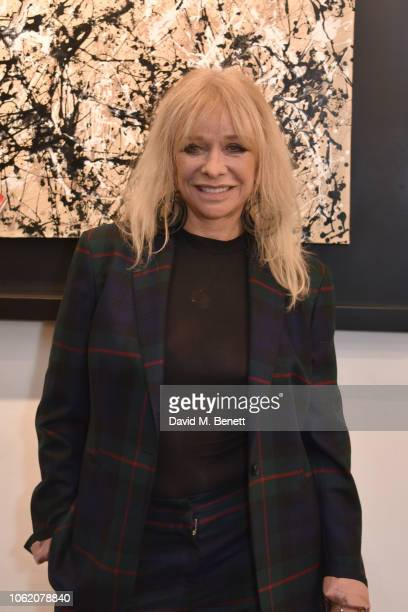 Jo Wood attends a private view of artist Paul Karslake's exhibition at The Marylebone Gallery on November 15 2018 in London England