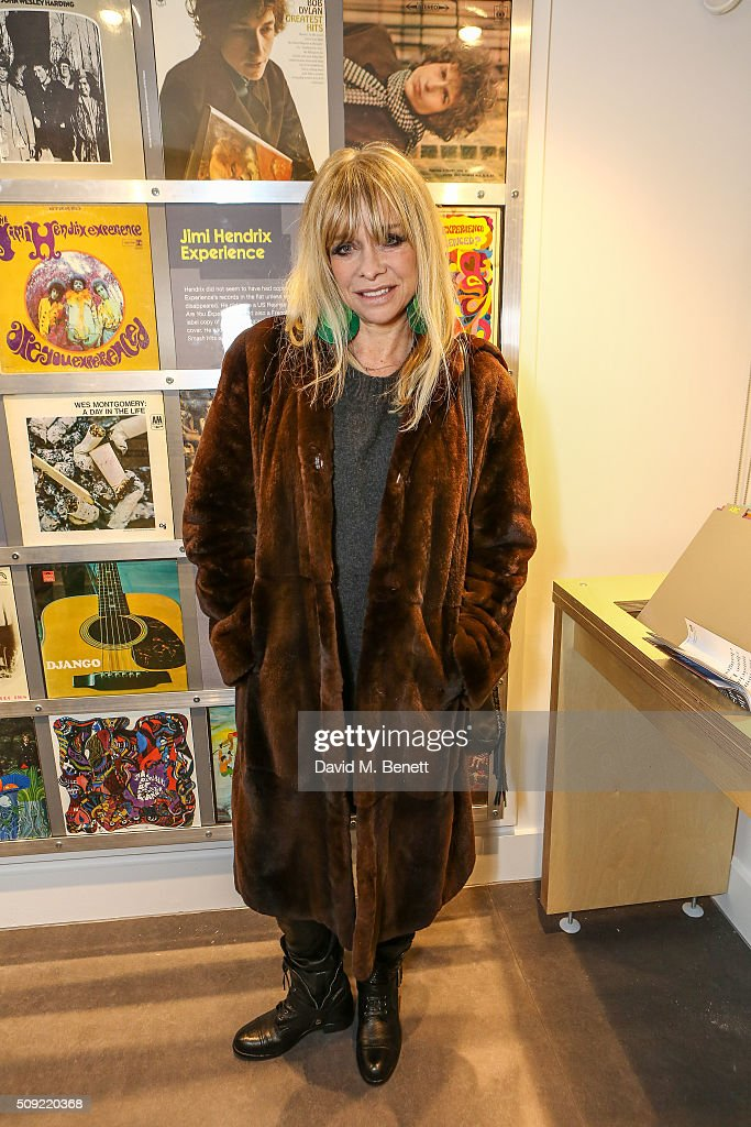 Jo Wood attends a private view of 'Hendrix At Home' at Jimi Hendrix's restored former Mayfair flat on February 9, 2016 in London, England.