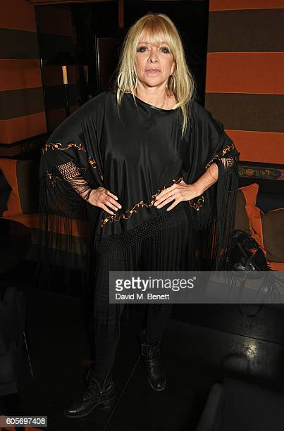 Jo Wood attends as Blakes hotel celebrates the launch of Blakes Below a luxury bar and lounge designed by Anouska Hempel on September 14 2016 in...