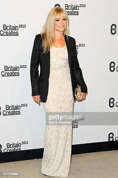 Jo Wood attends Britain Creates 2012 Fashion Art Collusion at Old Selfridges Hotel on June 27 2012 in London England