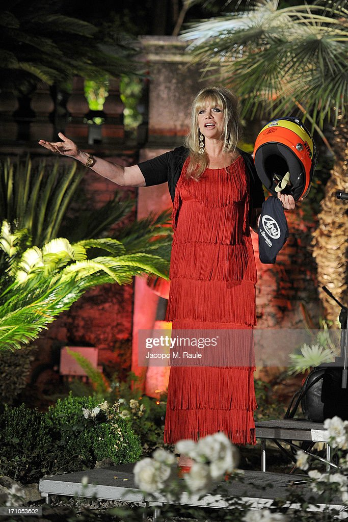 Jo Wood attends Cash & Rocket On Tour Women for Women - Gala Dinner and Auction on June 16, 2013 in Rome, Italy.