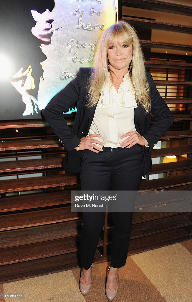 Jo Wood attends Christian Furr and Chris Bracey 'Staying Alive' Private View at 45 Park Lane on July 3, 2013 in London, England.