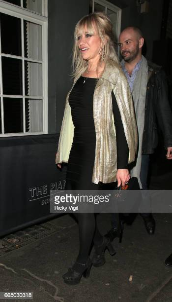 Jo Wood attends Keep Live Music Alive at The Piano Bar Soho on April 5 2017 in London England