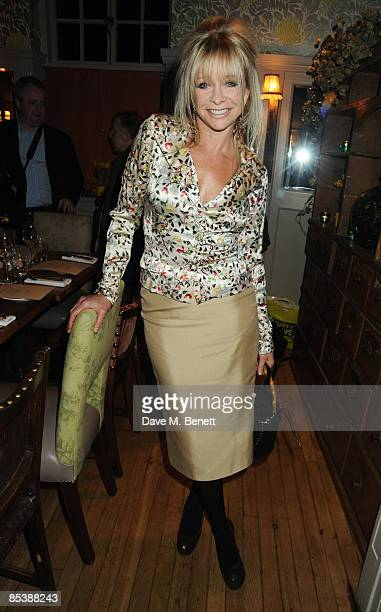 Jo Wood attends the charity dinner hosted by Donna Air to raise awareness of Soil Association at Bumpkin Restaurant South Kensington on March 11 2009...