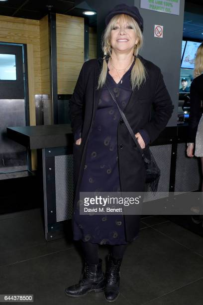 Jo Wood attends the launch of Burger Fi a new burger restaurant on February 23 2017 in London England