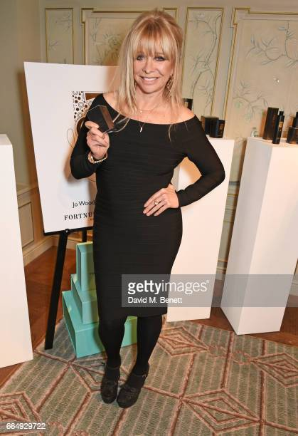 Jo Wood attends the launch of her organics range at Fortnum Mason on April 5 2017 in London England