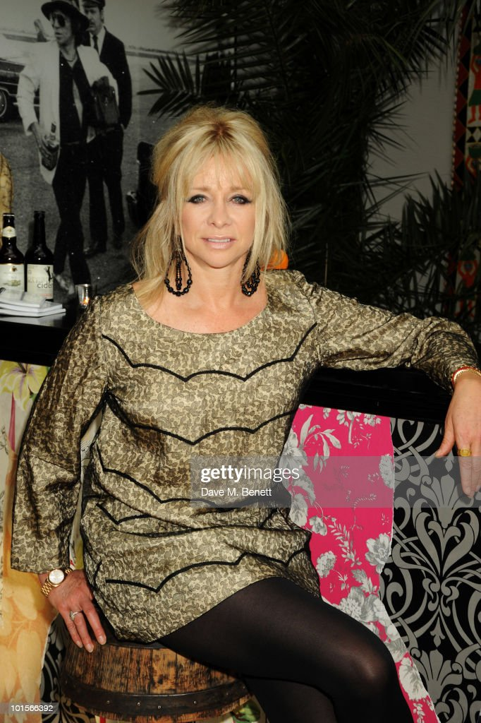 Jo Wood attends the Mrs Paisley's Lashings private dinner on June 2, 2010 in London, England.
