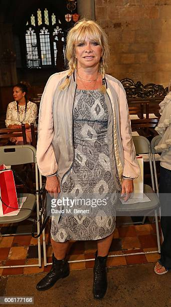Jo Wood attends the PPQ show during London Fashion Week Spring/Summer collections 2017 on September 16 2016 in London United Kingdom