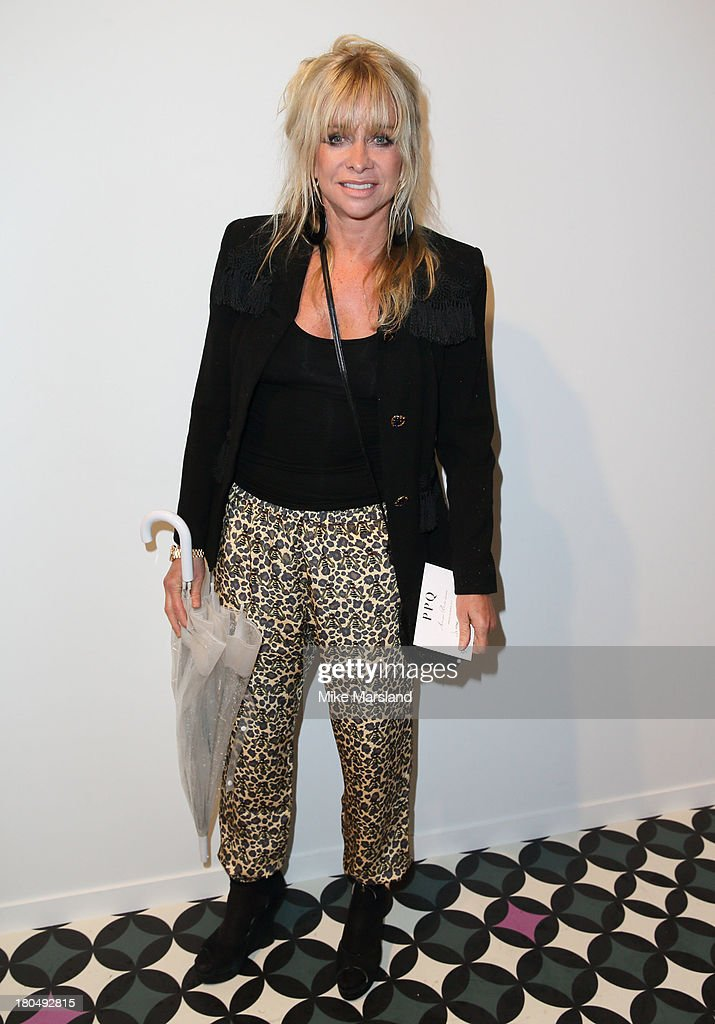 Jo Wood attends the PPQ show during London Fashion Week SS14 at BFC Courtyard Showspace on September 13, 2013 in London, England.