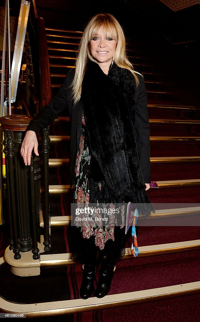 Jo Wood attends the VIP performance of 'Kooza' by Cirque Du Soleil at Royal Albert Hall on January 6, 2015 in London, England.