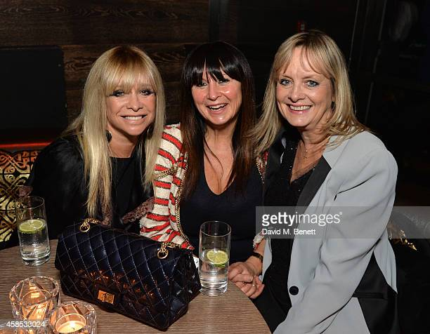 Jo Wood Fran Cutler and Twiggy attend the BIBA 50 Year Anniversary Dinner with Barbara Hulanicki at The London Edition Hotel on November 6 2014 in...