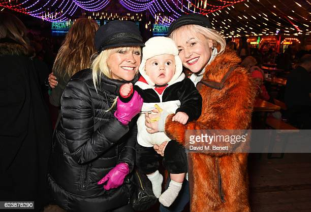 Jo Wood Jaime Winstone and baby Ray attends a VIP Preview of Hyde Park's Winter Wonderland 2016 on November 17 2016 in London United Kingdom
