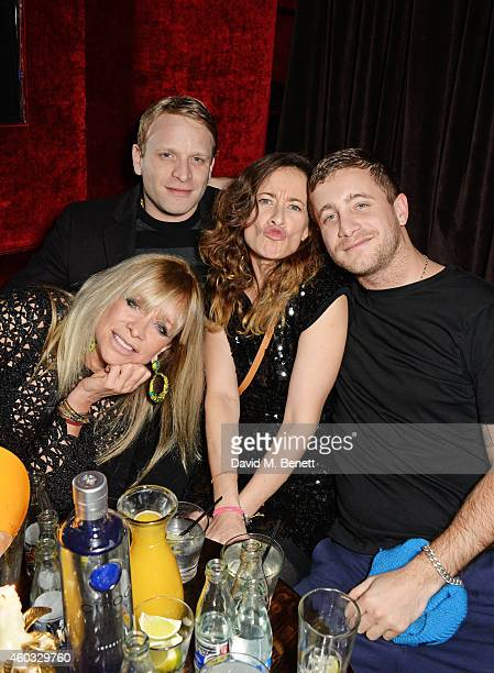 Jo Wood Jamie Wood Leah Wood and Tyrone Wood attend the Glam Rock Christmas party to celebrate the collaboration between House of Hackney and Terry...