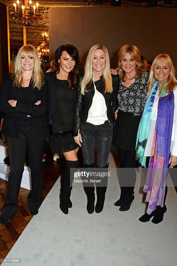 Jo Wood, Lizzie Cundy, Angie Best, Anthea Turner and Susan George attend the first Fifty Plus Fashion Week hosted by JD Williams at Cafe Royal on February 18, 2016 in London, England.