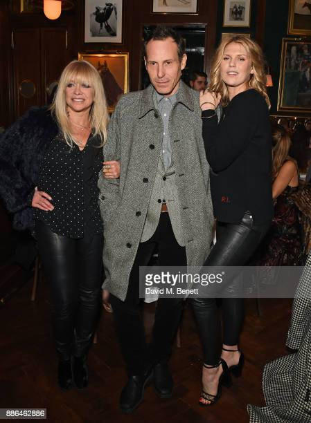 Jo Wood Marlon Richards and Alexandra Richards attend the Polo Bear Holiday Dinner hosted by Polo Ralph Lauren and Alexandra Richards at Ralph's...