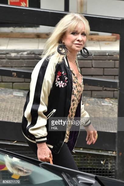 Jo Wood seen at the ITV Studios on August 4 2017 in London England