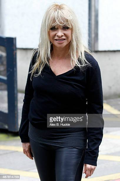 Jo Wood sighted leaving the ITV Studios after guest hosting 'Loose Women' May 2 2014 in London England