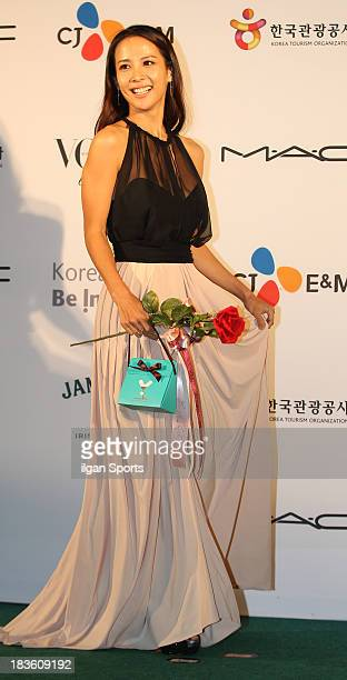 Jo YeoJeong arrives for APAN Star Road during the 18th Busan International Film Festival at the Haeundae Beach BIFF Village on October 4 2013 in...