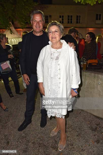 Joachim A Lang and MarieLuise Marjan at the Event Movie meets Media during the Munich Film Festival on June 30 2018 in Munich Germany