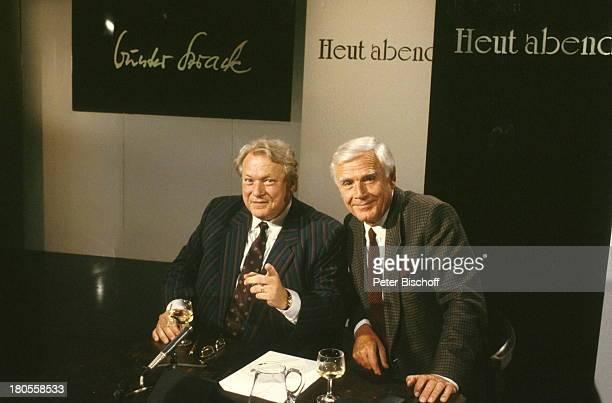 "Joachim ""Blacky"" Fuchsberger, Günter;Strack , ARD-Show;""Heut Abend"", Studio,"