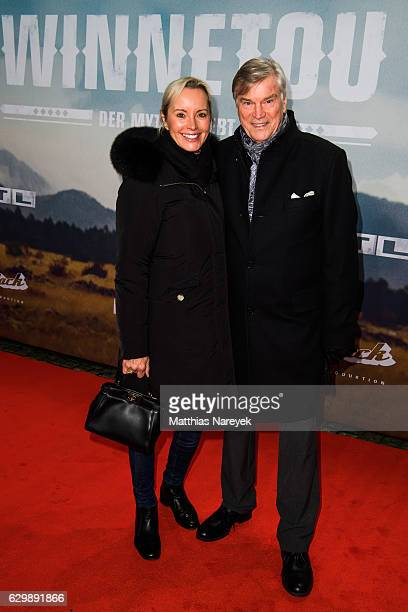 Joachim Busse and his wife Constanze Volkne the 'Winnetou - Eine neue Welt' premiere at Delphi on December 14, 2016 in Berlin, Germany.