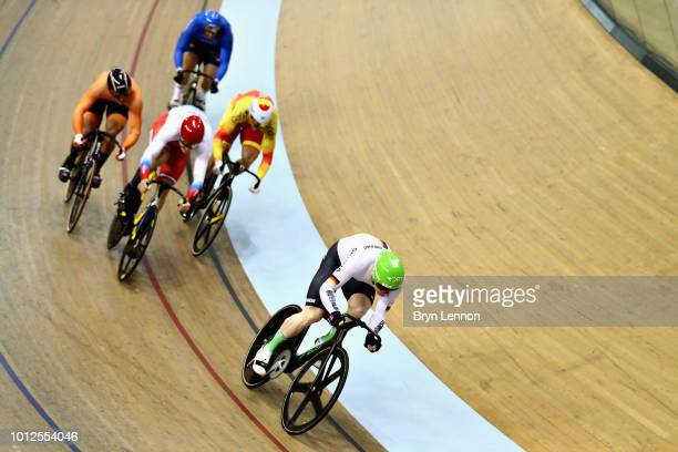 Joachim Eilers of Germany leads Juan Peralta of Spain Aleksandr Dubchenko of Russia Luca Ceci of Italy and Sam Ligtlee of Netherlands in the second...
