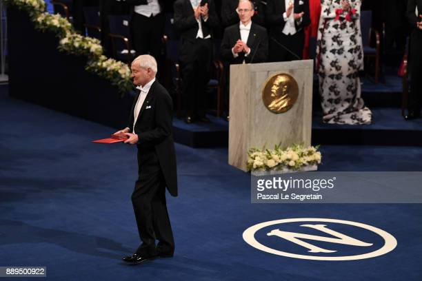 Joachim Frank laureate of the Nobel Prize in chemistry aknowledges applause after he received his Nobel Prize from King Carl XVI Gustaf of Sweden...