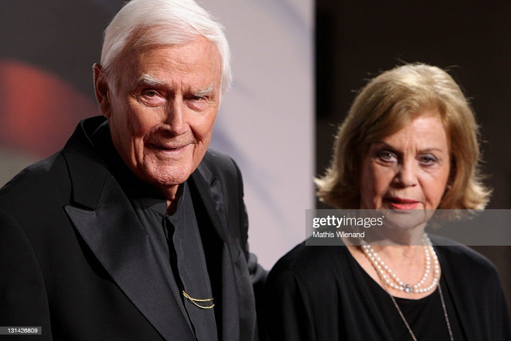 Joachim Fuchsberger and his wife Gundula arrive for the Nachhaltigkeitspreis Gala at Maritim Hotel on November 4, 2011 in Duesseldorf, n Duesseldorf, Germany.