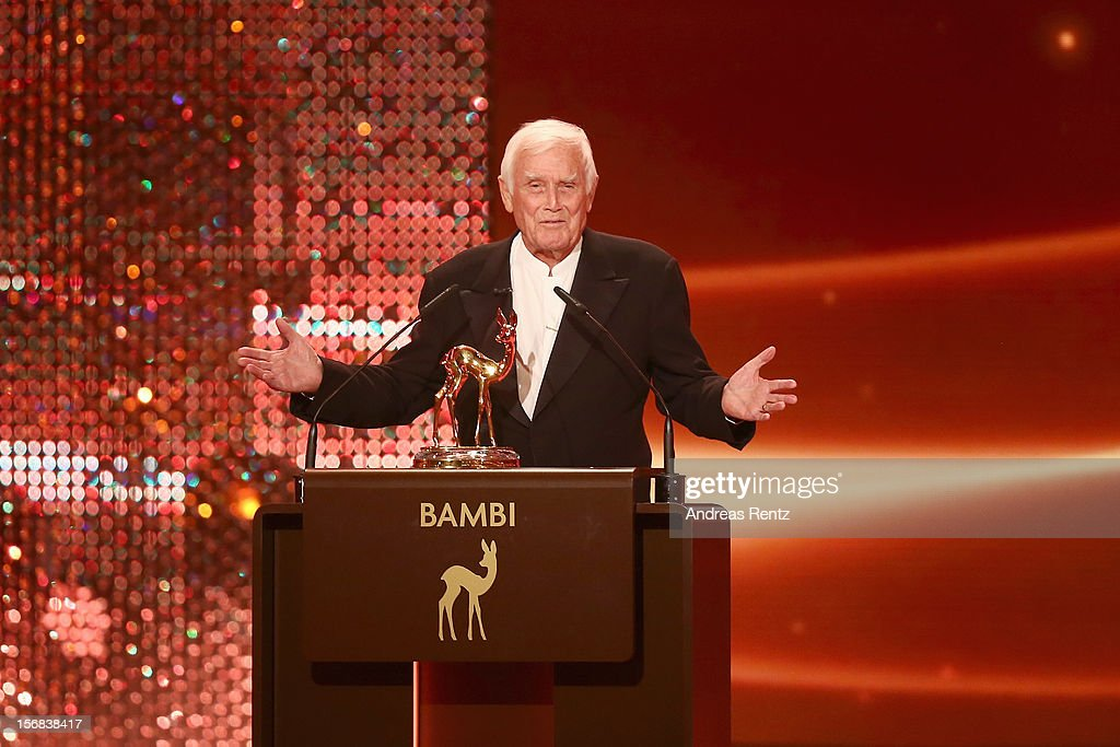 Joachim Fuchsberger attends 'BAMBI Awards 2012' at the Stadthalle Duesseldorf on November 22, 2012 in Duesseldorf, Germany.