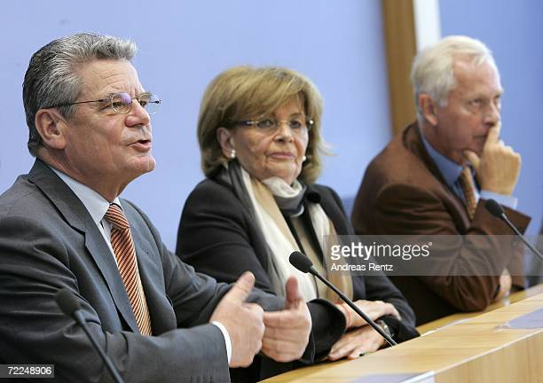 Joachim Gauck Charlotte Knobloch VicePresident of the World Jewish Congress and head of the Central Council of Jews in Germany and UweKarsten Heye...