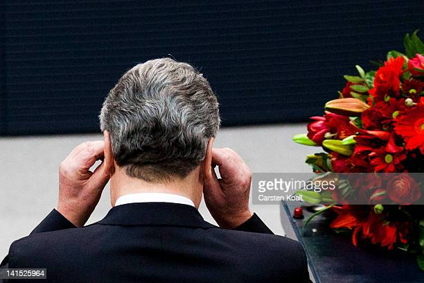 Joachim Gauck Lutheran pastor and former East German humanrights activist after he was elected new German President by the Federal Assembly on March...