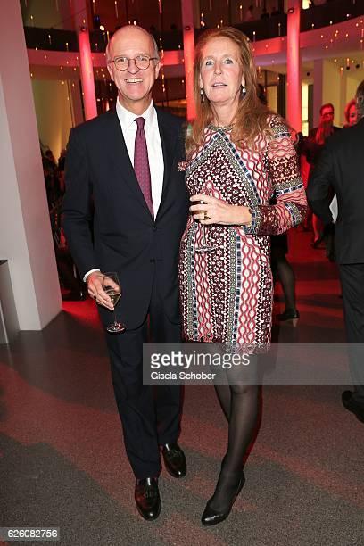 Joachim Graf von Arnim and his wife Dr Alexandra Graefin von Arnim during the PIN Party Let's party 4 art' at Pinakothek der Moderne on November 26...