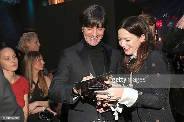 Joachim Jogi Loew and Hannah Herzsprung during the Bambi Awards 2016 party at Atrium Tower on November 17 2016 in Berlin Germany
