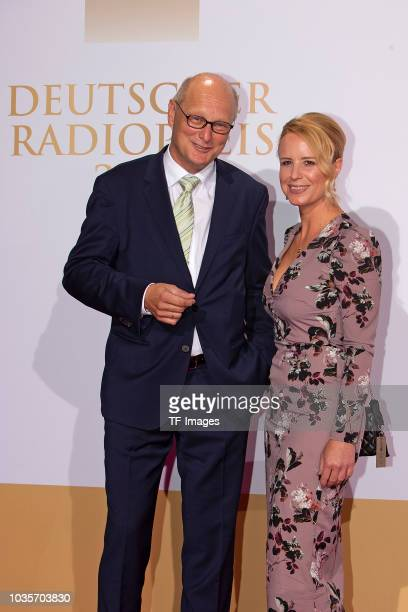 Joachim Knuth and Julia Becker attend the Deutscher Radiopreis at Schuppen 52 on September 6 2018 in Hamburg Germany