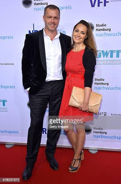 Joachim Kretzer and Sarah Maria Besgen attend the Studio Hamburg Nachwuchspreis 2015 at Thalia Theater on June 23 2015 in Hamburg Germany