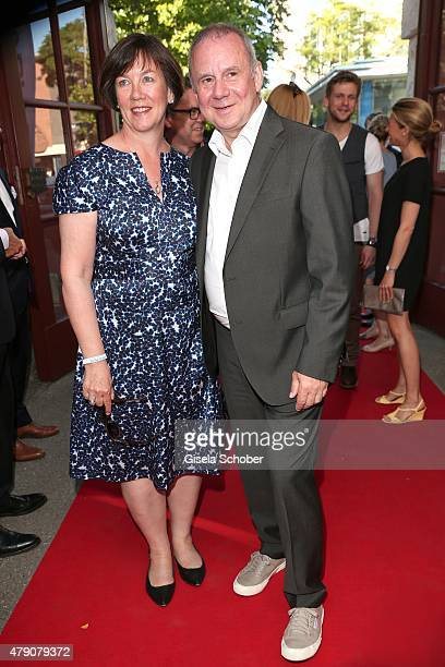Joachim Krol and his wife Heidrun Teusner attend the Bavaria Film reception during the Munich Film Festival at Kuenstlerhaus am Lenbachplatz on June...