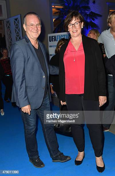 Joachim Krol and his wife Heidrun Teusner attend the UFA FICTION Reception during the Munich Film Festival at Cafe Reitschule on June 29 2015 in...