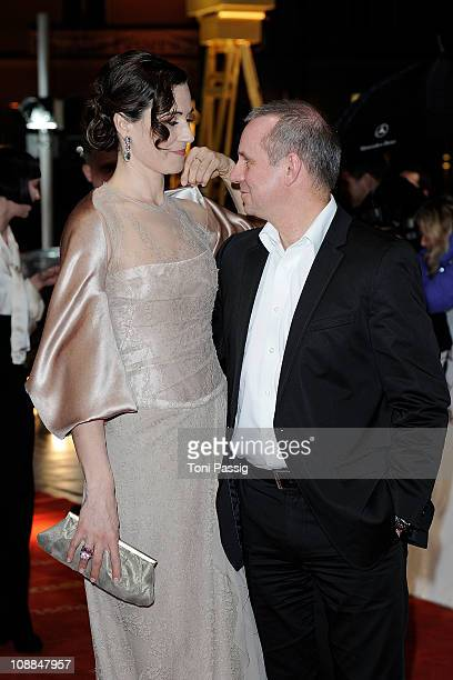 Joachim Krol and Nina Kunzendorf attend the 46th Golden Camera awards at the Axel Springer Haus on February 5 2011 in Berlin Germany