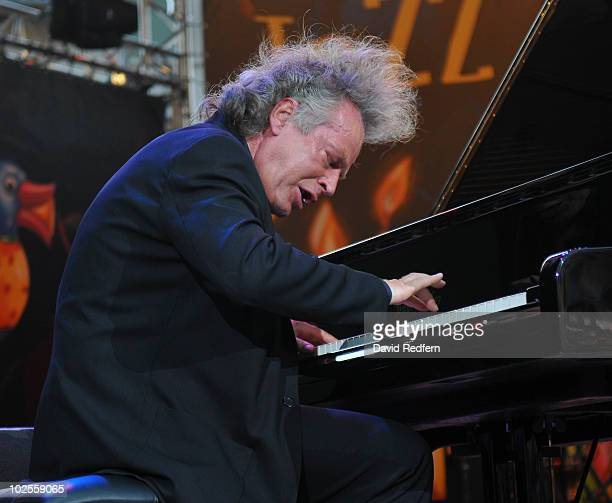 Joachim Kuhn performs on stage as part of the Jazz A Vienne Festival on June 25 2010 in Vienne France