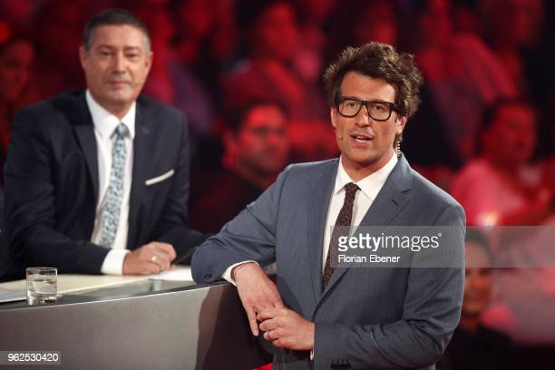Joachim Llambi and Daniel Hartwich during the 10th show of the 11th season of the television competition 'Let's Dance' on May 25 2018 in Cologne...