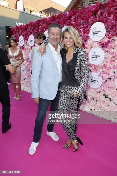 Joachim Llambi and Ella Endlich attend the Late Night Shopping at Designer Outlet Soltau on August 3 2018 in Soltau Germany