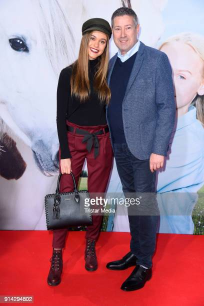 Joachim Llambi and his daughter Katarina Llambi during the premiere of 'Wendy 2 Freundschaft fuer immer' at Cinedom on February 4 2018 in Cologne...