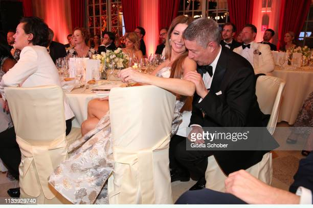 Joachim Llambi and his girlfriend Rebecca Rosenschon during the Gruner&Jahr Spa Awards at Brenners Park-Hotel & Spa on March 30, 2019 in Baden-Baden,...