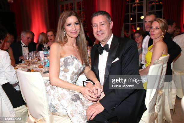 Joachim Llambi and his girlfriend Rebecca Rosenschon during the Gruner+Jahr Spa Awards at Brenners Park-Hotel & Spa on March 30, 2019 in Baden-Baden,...