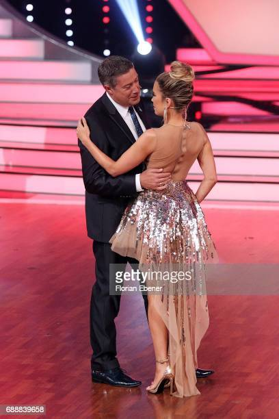 Joachim Llambi and Sylvie Meis during the 10th show of the tenth season of the television competition 'Let's Dance' on May 26 2017 in Cologne Germany