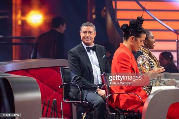 """Joachim Llambi is seen on stage during the 1st show of the 13th season of the television competition """"Let's Dance"""" on February 28, 2020 in Cologne,..."""