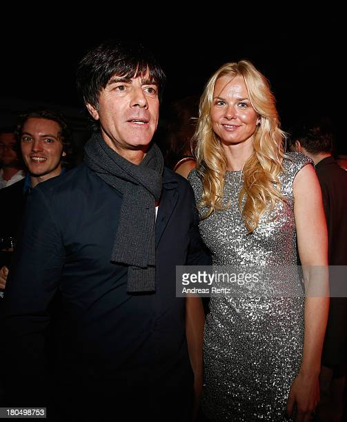 Joachim Loew and Britta Steffen attend No1 TRUE BERLIN BY Shan Rahimkhan ghd on September 13 2013 in Berlin Germany